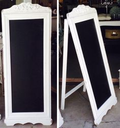 Our new A frame chalkboard - great for table seating, menu or general wedding signage Framed Chalkboard, Table Seating, Wedding Signage, Silk Flowers, Backdrops, Menu, Invitations, Decor, Menu Board Design