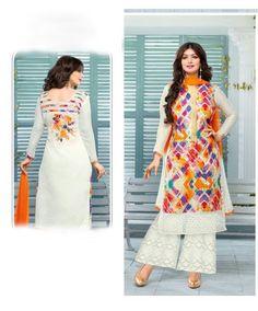 Ayesha Takia Off White Cambric Cotton Kameez With Palazzo Pant 59472