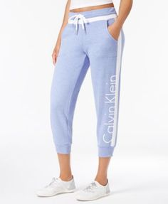 CALVIN KLEIN Calvin Klein Performance Cropped Sweatpants. #calvinklein #cloth # activewear