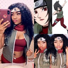 """Dahja on Instagram: """"Kurenai Cosplay 🖤⚔️❤️ These contacts are AMAZING 😩❤️ Contacts: @sps_eye Color: Pure Red Discount code: dahja #blackcosplay…"""" Duo Costumes, Cute Halloween Costumes, Halloween Cosplay, Cosplay Costumes, Halloween Makeup, Costume Ideas, Cute Cosplay, Cosplay Outfits, Best Cosplay"""