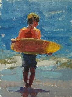 Boogie Board, painting by artist Robin Cheers