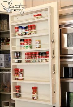 Spice rack inside pantry door... we have a ton of spices so this would be useful.