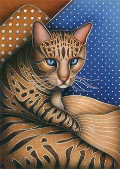 Cat Andrea Canvas Print / Canvas Art by Carol Wilson