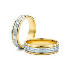 SAVICKI - Obrączki ślubne: Obrączki z dwukolorowego złota (Nr 200) - Biżuteria od 1976 r.