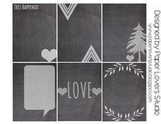 Paper Lovers Studio: Freebie Friday #3: Chalkboard Journal Tags
