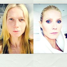 Gwyneth Paltrow Goes Without Makeup, Then Glam on Instagram: Photo - Us Weekly