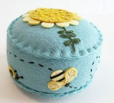 Honeybee pin cushion
