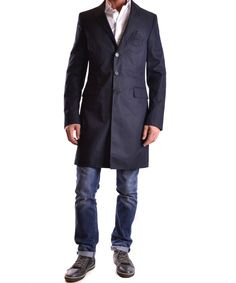 BIKKEMBERGS Bikkembergs Men'S  Blue Cotton Coat'. #bikkembergs #cloth #coats & jackets