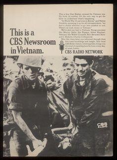 1967 Dan Rather Vietnam War Photo CBS Radio Print Ad