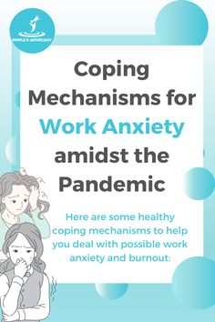 """Work anxiety can manifest in two ways: stress from work that eventually leads to an anxiety disorder, or an anxiety disorder that affects a person's work performance. It has not been officially classified as an anxiety disorder yet, but the closest to it is the World Health Organization's newly-changed definition of burnout, which refers to a """"syndrome conceptualized as resulting from chronic workplace stress that has not been successfully managed."""" Business Planner, Business Tips, Online Business, Business Marketing, Social Media Marketing, Digital Marketing, Anxiety Disorder, Coping Mechanisms"""