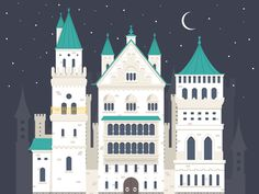 Dribbble - Castle by FireArt Studio