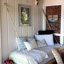 Quando nós construímos a nossa varanda, eu imaginava uma cama balançando ... Mas por causa de ... :: Hometalk