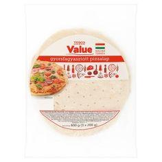 Tesco Value gyorsfagyasztott pizzalap 3 x 200 g - Tesco Bevásárlás