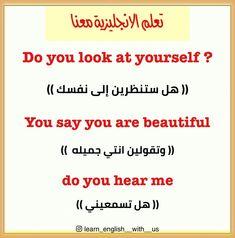 #learn_english_wi_us #Learn #تعلم_الانكليزية_معنا #تعلم_الانجليزية #تعلم_اللغة_الانجليزية #اكسبلور #اكسبلور_explore #البصرة #iraq Beautiful Words In English, English Words, You Are Beautiful, Arabic Language, Learning Arabic, Learn English, Stickers, Sayings, You're Beautiful