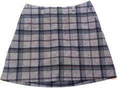 Nike Golf Dri-Fit Miniskirt - Women's Size 6 Grey Tones W/ Light blue Pin Stripe #Nike #Mini