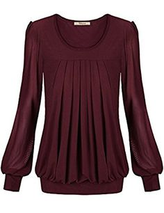 Bebonnie Womens Long Sleeve Jersey Banded Tunic Top