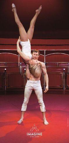 Cirque Imagine_Natalia et Mickhaïl acrobates