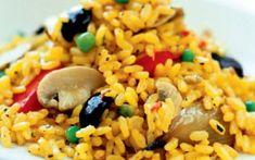 Ριζότο με κρόκο και λαχανικά Grains, Rice, Cooking, Recipes, Food, Kitchen, Essen, Meals, Eten