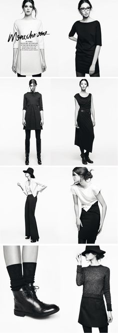 Monochrome-inspired lookbook for MAX & Co. I'd love to live off black and white.