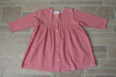 Zutano Baby Toddler Girl 18 24 Months Red White Striped Cotton Dress Long Sleeve #Zutano #LongSleeve #CasualParty