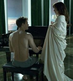 Christian & Ana in Christian's Apartment