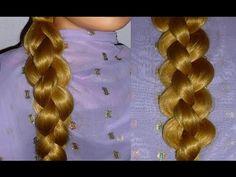 4 Strähnen Runden 3D Zopf flechten.Frisur für mittel/lange Haare.4 Strand/3D Braid Hairstyle - YouTube