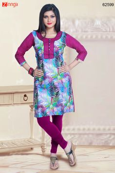 Multiple Color with Lace & Printed Work Incredible Readymade Kurti. Message/call/WhatsApp at +91-9246261661