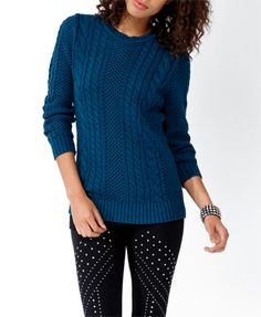 C...able Knit Sweater