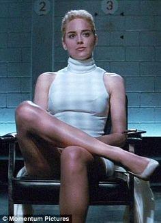 Karen Gillan looks eerily similar to Sharon Stone in Basic Instinct