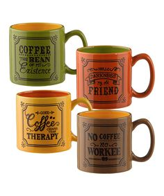 Look at this 'Coffee' Mug Set on #zulily today!