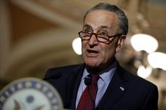 "Senate Minority Leader Chuck Schumer speaks to reporters after the weekly policy luncheons on Capitol Hill in Washington, D.C., U.S. May 16, 2017. Senate Minority Leader Chuck Schumer, D-N.Y., mocked President Trump Monday after the White House posted video of a Cabinet meeting at which each official was called on to offer praise to the leader of the free world. A video Schumer posted on Twitter captioned, ""GREAT meeting today with the best staff in the history of the world!!!"" shows him…"