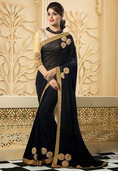 Amazing Black Saree