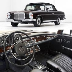 1970 Mercedes-Benz 280 SE Cabriolet 💯 Complete restoration by Brabus Classic with a warranty Mercedes Benz Germany, Mercedes Benz Coupe, Mercedes Benz Cars, Classic Motors, Classic Cars, Maybach Exelero, Vintage Cars, Antique Cars, Mercedez Benz