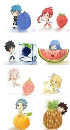 Fairy tail fruit....soooooo cute....❤❤❤❤❤