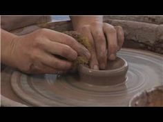Throwing a Lidded Sugar Bowl on the Pottery Wheel : Throwing a Sugar Bowl Lid on the Pottery Wheel
