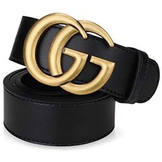 5ce8717a58837f MARCELEN Eleganter Damen Gürtel Ledergürtel Echtledergürtel Jeansgürtel  3.8CM Goldschnalle Breit perfekt für Geschenk 95-