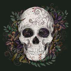 Skull - Digital Illustration on BehanceYou can find Skull illustration and more on our website.Skull - Digital Illustration on Behance Leather Art, Painting Leather, Skull Illustration, Digital Illustration, Chicano, Mexican Skulls, Mexican Skull Tattoos, Skeleton Art, Sugar Skull Art