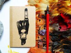 Quaderno  A6  con copertina in cartoncino stampata a mano