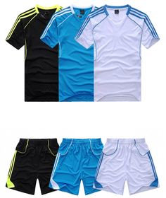 15/16 Soccer Jerseys Football Kits T Shirt + Pants Blank Training Uniforms Set Short Sleeve Personalized Suit For Adult Men Kids-in Sports Jerseys from Sports & Entertainment on Aliexpress.com   Alibaba Group