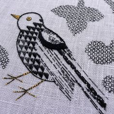 Embroidery Kit - (an introduction to Blackwork) - Folksy