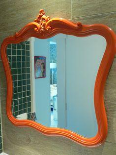 Ateliando - Customização de móveis antigos: Espelho Antigo Customizado…