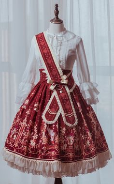 Arcadian Deer -The Royal Circus- Sweet Lolita High Waist Skirt (Shipping Date: In June)