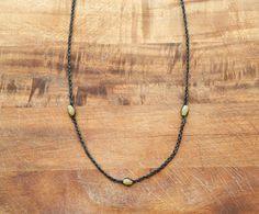 Jade Necklace Jade Bead Necklace Handmade by theprophetsbazaar