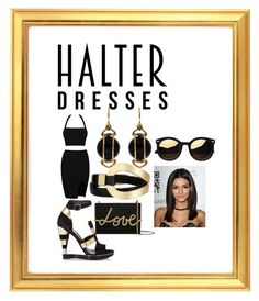 """Halter Style"" by dimeond711 ❤ liked on Polyvore featuring Lanvin, Salvatore Ferragamo, Valentin Magro and Saachi"