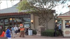 Duffy, Mickey Mouse's bear, makes appearances daily around the Showcase Plaza at Epcot.  Here is all dressed up for Halloween!
