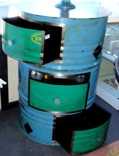 customiser un f t deco pinterest recyclage metallique et tonneaux. Black Bedroom Furniture Sets. Home Design Ideas