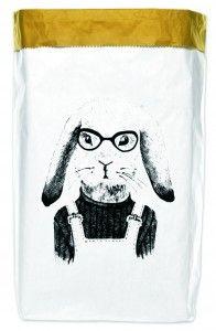Worek papierowy Hipster Rabbit 50x70 cm