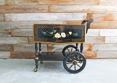 Vintage Black and Gold Asian Rolling Tea by UptownHeirloomCo, $375.00