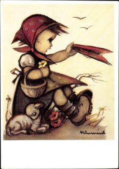 Artist Postcard Hummel, Farewell, Auf Wiedersehen, 62 1310