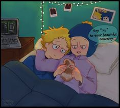 South Park Funny, South Park Memes, Craig South Park, Tweek South Park, Ninga Turtles, Tweek And Craig, Girls In Bed, South Park Fanart, Mundo Comic